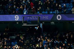 The scoreboard at the Etihad Stadium showing the scoreline of 9-0 - Mandatory by-line: Robbie Stephenson/JMP - 09/01/2019 - FOOTBALL - Etihad Stadium - Manchester, England - Manchester City v Burton Albion - Carabao Cup