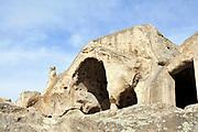 Georgia, Uplistsikhe, an ancient rock-hewn town in eastern Georgia,