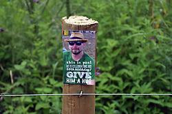 Latitude Festival 2017, Henham Park, Suffolk, UK. Give Him A Hug flyer