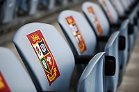 Rugby Union - 2017 British & Irish Lions Tour of New Zealand - New Zealand Provincial Barbarians vs. British & Irish Lions<br /> <br /> Seats are branded with Lions signs before the match at Toll Stadium [Okara Park], Whangarei.<br /> <br /> COLORSPORT/LYNNE CAMERON