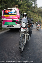 Moti Lal on day-9 of our Himalayan Heroes adventure riding from Pokhara to Nuwakot, Nepal. Wednesday, November 14, 2018. Photography ©2018 Michael Lichter.