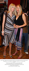 Left to right, sisters the HON.SOPHIA HESKETH and her sister the HON.FLORA HESKETH daughters of Lord Hesketh, at a party in London on 11th June 2003.<br /> PKI 179
