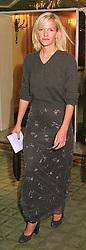 MISS ELISABETH MURDOCH daughter of media tycoon Rupert Murdoch, at a dinner in London on 4th March 1999.MPA 65 WORO