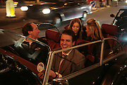 Anouska Beckwith,  Olivia Buckingham and Harry Soames leaving in a morgan Sports car. , The Essential Party Guide Evening of Golden Glamour. The Ballroom, Mandarin oriental, Hyde Park. 27 March 2007. -DO NOT ARCHIVE-© Copyright Photograph by Dafydd Jones. 248 Clapham Rd. London SW9 0PZ. Tel 0207 820 0771. www.dafjones.com.