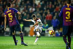 November 3, 2018 - Madrid, MADRID, SPAIN - Pozo of Rayo shoot for goal during the Spanish Championship, La Liga, football match between Rayo Vallecano and FC Barcelona on November 03th, 2018 at Estadio de Vallecas in Madrid, Spain. (Credit Image: © AFP7 via ZUMA Wire)