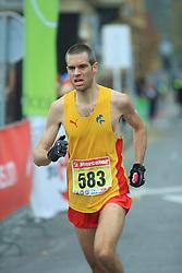 Johan Sand v cilju na 13. Ljubljanskem maratonu po ulicah Ljubljane, 26. oktobra 2008, Ljubljana, Slovenija. (Photo by Vid Ponikvar / Sportal Images)./ Sportida)