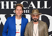 """13 February 2020 - Hollywood, California - AJ McLean and Mark Adler at theWorld Premiere of twentieth Century Studios """"The Call of the Wild"""" Red Carpet Arrivals at the El Capitan Theater."""