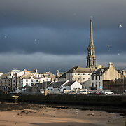 Ayr with the Town Hall spire, Ayrshire, Scotland.