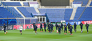 Manchester United players during the Manchester United Training session ahead of the Paris Saint-Germain vs Manchester United Champions League match at Parc des Princes, Paris, France on 5 March 2019.