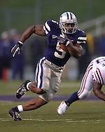 Kansas State running back Thomas Clayton (5) rushes up field in the first half against Florida Atlantic at Bill Snyder Family Stadium in Manhattan, Kansas, September 9, 2006.  The Wildcats beat the Owls 45-0.