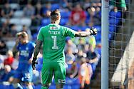 Luton Town goalkeeper Marek Stech (1) during  the EFL Sky Bet League 1 match between Peterborough United and Luton Town at London Road, Peterborough, England on 18 August 2018.