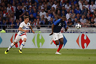 Blaise Matuidi of France and Wil Trapp of USA during the 2018 Friendly Game football match between France and USA on June 9, 2018 at Groupama stadium in Decines-Charpieu near Lyon, France - Photo Romain Biard / Isports / ProSportsImages / DPPI