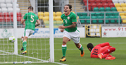 Republic of Ireland's Reece Grego-Cox celebrates a goal during the 2019 UEFA Under 21 Qualifying Group Five match at the Tallaght Stadium, Dublin.