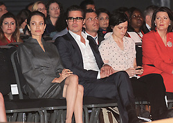 June 13, 2014 - London, England, United Kingdom - Angelina Jolie and Brad Pitt  attend ceremony which closes the main conference,Global Summit to End Sexual Violence in .Conflict at ExCel. (Credit Image: © Ferdaus Shamim/ZUMA Wire/ZUMAPRESS.com)
