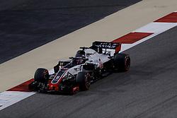 April 7, 2018 - Sakhir, Kingdom of Bahrain - ROMAIN GROSJEAN of Haas F1 Team drives during the 2018 FIA Formula 1 Bahrain Grand Prix qualifying session at Bahrain International Circuit in Sakhir, Kingdom of Bahrain. (Credit Image: © James Gasperotti via ZUMA Wire)