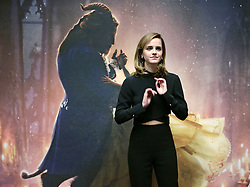 Emma Watson during a photo call with the cast of Beauty and the Beast, at The Corinthia Hotel, London.