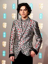 Timothee Chalamet attending the 72nd British Academy Film Awards held at the Royal Albert Hall, Kensington Gore, Kensington, London.