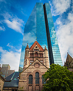 "Trinity Church in the City of Boston, located in the Back Bay of Boston, Massachusetts, is a parish of the Episcopal Diocese of Massachusetts. The congregation, currently standing at approximately 3,000 households, was founded in 1733. Four services are offered each Sunday, and weekday services are offered three times a week from September through June. Trinity is considered ""Low Church"", while continuing to be a Broad Church parish."