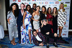 The cast of Strictly Come Dancing wins the award for Best Reality Programme at the TRIC Awards 2019 50th Birthday Celebration held at the Grosvenor House Hotel, London.