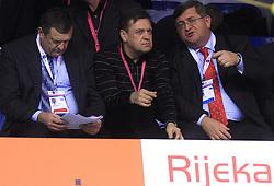 President of PZS Jure Prosen, mayor of Ljubljana Zoran Jankovic and mayor of Rijeka Vojko Obersnel at 4th day of  LEN European Short Course Swimming Championships Rijeka 2008, on December 14, 2008,  in Kantrida pool, Rijeka, Croatia. (Photo by Vid Ponikvar / Sportida)