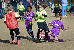 07 December 2014. Cumming Polo Fields, Georgia.<br /> Generation Adidas Norcross Cup.<br /> Jesters Elite U9 Purple team take on ICFC Revolution, losing 14-6 or thereabouts!<br /> Photo; Charlie Varley/varleypix.com