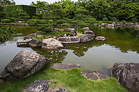 Turtle Island at Ohori Pond Garden - Fukuoka's Ohori Japanese strolling garden was built in 1979 to mark the park's 50th anniversary. The garden is made up of hills, trees groves and ponds. It was constructed with traditional gardening techniques although it is relatively new. A winding stream, a dry Zen garden, and a teahouse along with its adjacent garden are laid out around the highlights of the venue.  Ohori Garden is one of the finest examples of modern Japanese gardening to date.