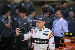 November 12, 2017 - Sao Paulo, Sao Paulo, Brazil - Nov, 2017 - Sao Paulo, Sao Paulo, Brazil - STOFFEL VANDOORNE McLaren Honda driver. It happens on Sunday (12) the Brazilian Grand Prix of Formula One, in the autodromo track of Interlagos in Sao Paulo. (Credit Image: © Marcelo Chello via ZUMA Wire)