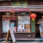 Feng Shui Inn in London Chinatown Sweet Tooth Cafe and Restaurant at Newport Court and Garret Street on 15 June 2019, UK.