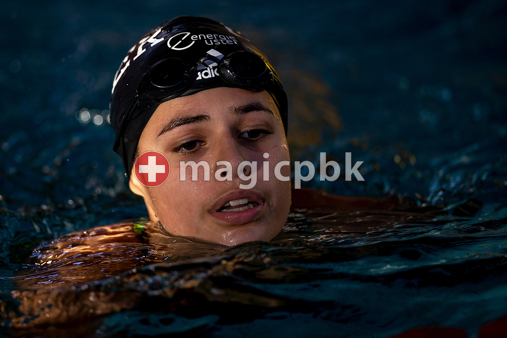 Eva GEILENKIRCHEN of Switzerland on her way out after competing in the women's 100m Freestyle Final during the Swiss Short Course Swimming Championships in Sion, Switzerland, Sunday, Nov. 15, 2020. (Photo by Patrick B. Kraemer / MAGICPBK)
