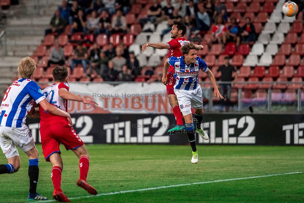 12-05-2018 NED: FC Utrecht - Heerenveen, Utrecht<br /> FC Utrecht win second match play off with 2-1 against Heerenveen and goes to the final play off / (L-R) Morten Thorsby #8 of SC Heerenveen, Sander van der Streek #22 of FC Utrecht, Mark van der Maarel #2 of FC Utrecht score the 2-0, Daniel Hoegh #3 of SC Heerenveen