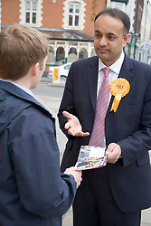 Liberal Democrat MP, Parmjit Singh Gill; canvassing for votes in the run up to the 2005 general election,