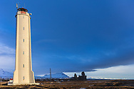 Malarrif Lighthouse on the Snaefellsnes Peninsula in western Iceland