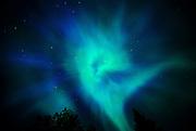 Northern lights or aurora borealis <br /> Sudbury<br /> Ontario<br /> Canada