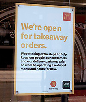 mcdonalds  takeaway in EastLeigh reopens as  restrictions are lifted for the first time since the government mandated non-essential businesses to close due to the coronavirus pandemic.Photo By Dawn Fletcher-Park