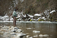 Winter steelhead fly fishing on the trinity River, CA