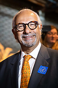 Liberal Democrat MEP candidate and millionaire founder of the travel website, eBookers, Dinesh Dhamija at the Liberal Democrat party European election campaign launch held at Tobacco Dock, in London, England on April 26, 2019. Liberal Democrat party leader, Vince Cable announced Member of European Parliament MEP candidates for the upcoming European Parliament elections that will take place from 23rd to 26th May 2019.