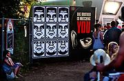 Big Brother & Obey posters,  Shangri-la, Glastonbury Festival 2010