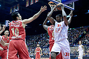 DESCRIZIONE : Milano Eurolega Euroleague 2013-14 EA7 Emporio Armani Milano Olympiacos Piraeus<br /> GIOCATORE : Gani Lawal<br /> CATEGORIA : Rimpallo<br /> SQUADRA :  EA7 Emporio Armani Milano<br /> EVENTO : Eurolega Euroleague 2013-2014 GARA : EA7 Emporio Armani Milano Olympiacos Piraeus<br /> DATA : 09/01/2014 <br /> SPORT : Pallacanestro <br /> AUTORE : Agenzia Ciamillo-Castoria/I.Mancini<br /> Galleria : Eurolega Euroleague 2013-2014 <br /> Fotonotizia : Milano Eurolega Euroleague 2013-14 EA7 Emporio Armani Milano Olympiacos Piraeus <br /> Predefinita