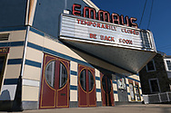 The Emmaus Theatre on South 4th Street in Emmaus, Pennsylvania, is closed Mar. 21, 2020, as communities across the Lehigh Valley are adjusting to life during the coronavirus pandemic that is impacting the daily lives of Pennsylvania residents both socially and economically. (Photo by Matt Smith)