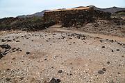 Sea-shells midden pre-Spanish Mahos village, Poblado de la Atalayita, Pozo Negro, Fuerteventura, Canary Islands, Spain