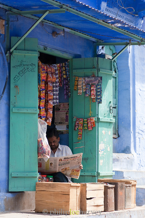 Local store in Jodhpur, referred to as the Sun City or the Blue City, Rajasthan, India