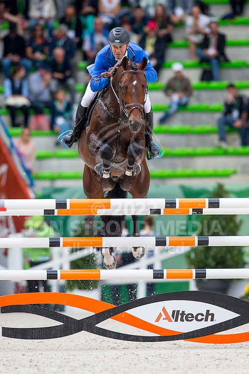 Tomaz Laufer, (SLO), Heart Stealer - Team & Individual Competition Jumping Speed - Alltech FEI World Equestrian Games™ 2014 - Normandy, France.<br /> © Hippo Foto Team - Leanjo De Koster<br /> 02-09-14