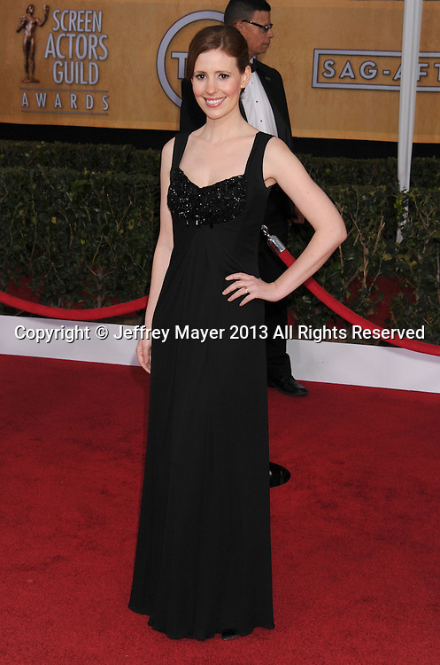 LOS ANGELES, CA - JANUARY 27: Amy Nutall arrives at the 19th Annual Screen Actors Guild Awards at the Shrine Auditorium on January 27, 2013 in Los Angeles, California.