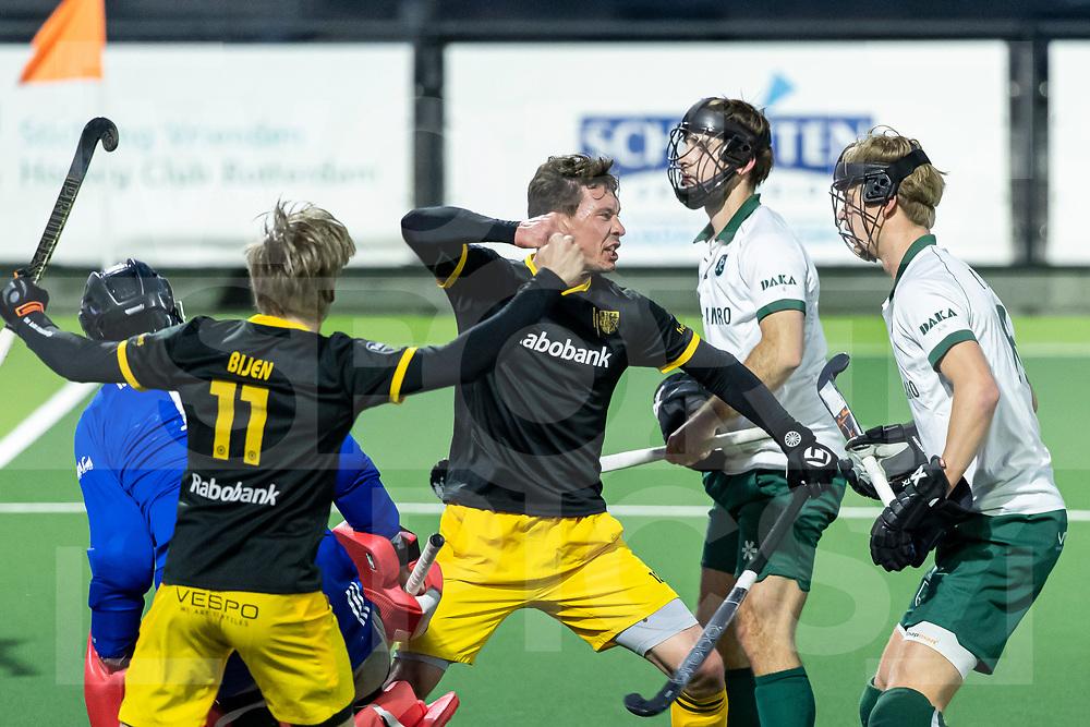 Rotterdam, Tulp Hoofdklasse Hockey Heren, Seizoen 2020-2021, 16-04-2021, Rotterdam - Den Bosch 0-3, Arjen Lodewijks (Den Bosch)  scoort de 0-2. COPYRIGHT WORLDSPORTPICS WILLEM VERNES