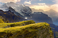 Mannlichen looking The Jungfrau - Swiss Alps .<br /> <br /> Visit our SWITZERLAND  & ALPS PHOTO COLLECTIONS for more  photos  to browse of  download or buy as prints https://funkystock.photoshelter.com/gallery-collection/Pictures-Images-of-Switzerland-Photos-of-Swiss-Alps-Landmark-Sites/C0000DPgRJMSrQ3U