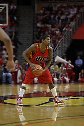 11 December 2010: Zavion Neely during an NCAA basketball game between the Illinois - Chicago Flames (UIC) and the Illinois State Redbirds (ISU) at Redbird Arena in Normal Illinois.