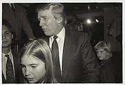 Ivanka Trump, Donald Trump,  Eric Trump, Harley Davidson Cafe opening. Manhattan. 1993.