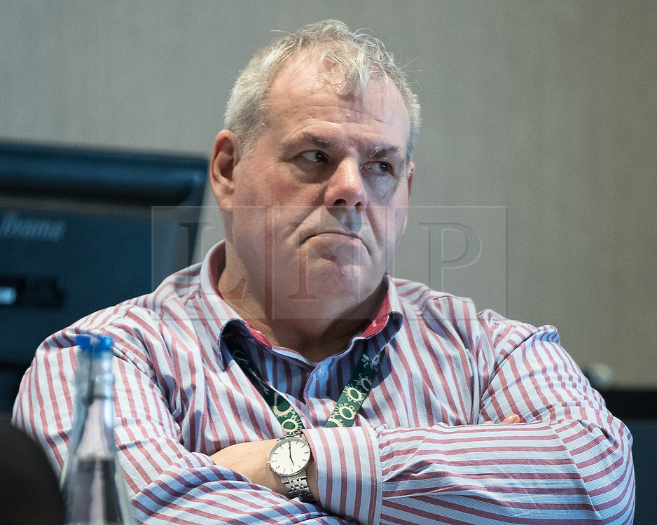© Licensed to London News Pictures . 27/10/2017 . Manchester , UK . RICHARD FARNELL , leader of Rochdale City Council , at the Lowry Centre in Salford at a meeting of the Greater Manchester Combined Authority . Farnell has been accused of lying to an ongoing Child Sexual Abuse enquiry about a report in to sexual abuse by men , including MP Cyril Smith , at Knowl View School . Photo credit : Joel Goodman/LNP