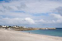 the beach on Inis Oirr Island the Aran Islands County Galway Ireland