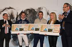Apellen Jeroen, Noterman Dimitri, Vtriendin Nick Motmans<br /> VLP winnaars Gold League  2013<br /> Vlaanderens Kerstjumping Mechelen 2013<br /> © Dirk Caremans